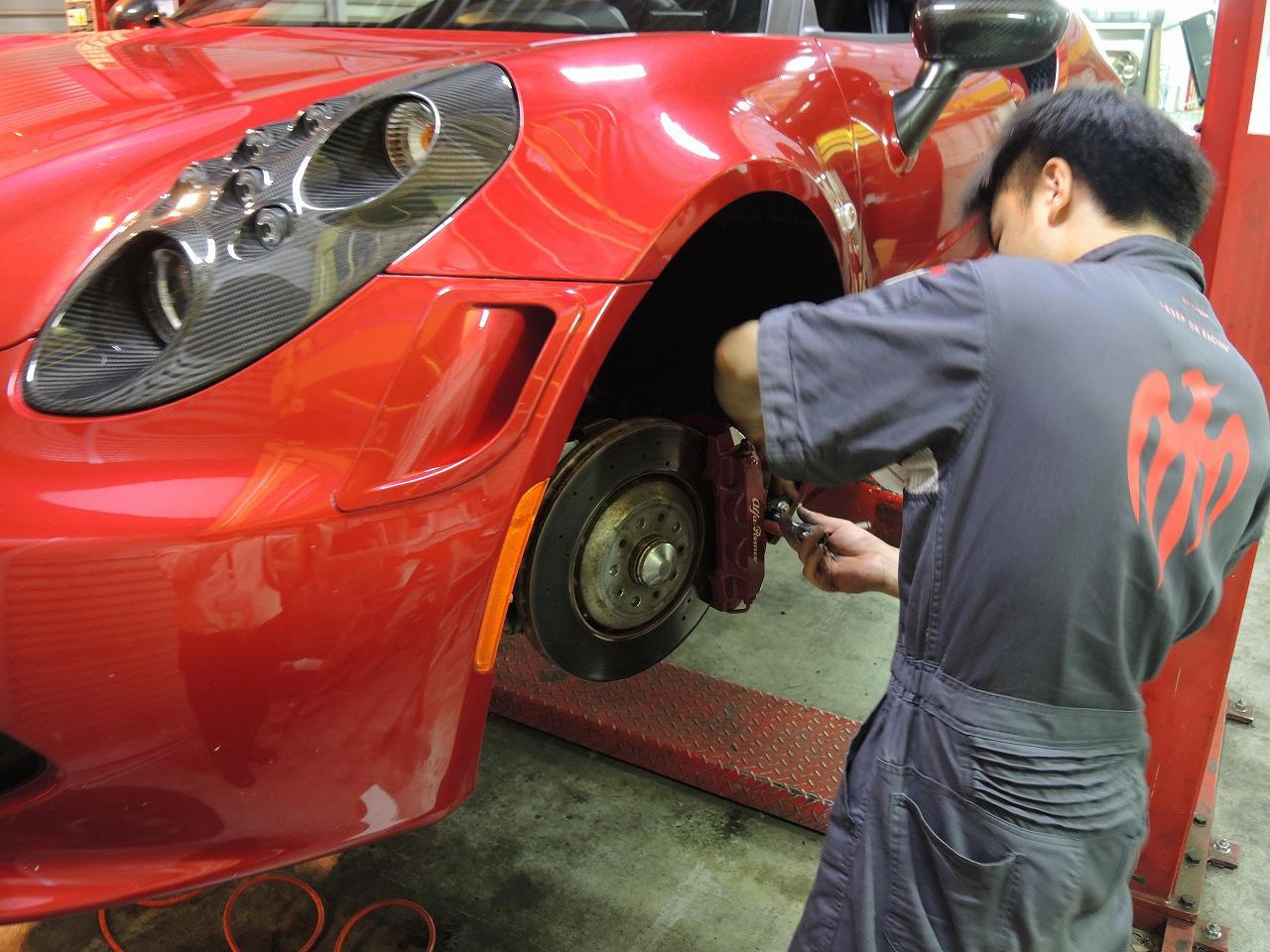 アルファロメオ4C KEN OKUYAMA様の愛車を車検点検 (1)