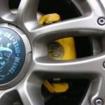 FIAT500 1.4 前後ダストの少ないブレーキパッドを装着