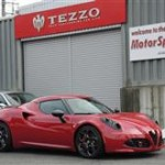 真っ赤なアバルト595にスペシャルレッドのTEZZOカーボンエアクリーナーお取付